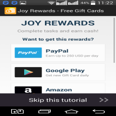 Joy Rewards Free Gift Cards