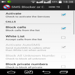 Сall SMS Block