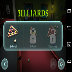 3D Pool game: 3ILLIARDS