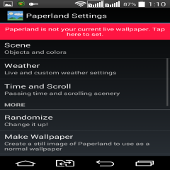 Paperland Live Wallpaper