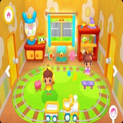 Happy Daycare Stories: School playhouse baby care