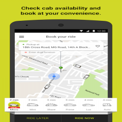 Ola cabs: Taxi, Auto, Car Rental, Share Booking