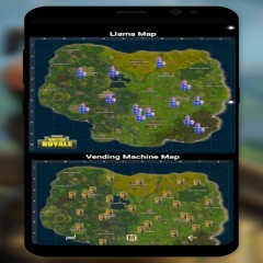Fortnite Map With Llamas and Chests