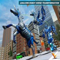 US Police Robot Horse Game: Transforming Robots