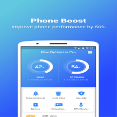 Max Optimizer Pro: easy to use & boost phone fast