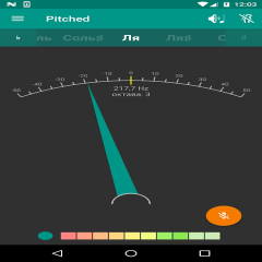 Pitched Chromatic Tuner