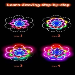 Learn To Draw Glow Flower