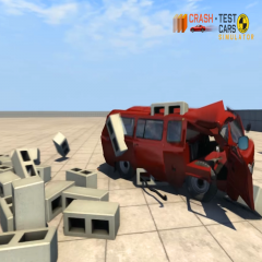 Car Crash Test UAZ BUHANKA