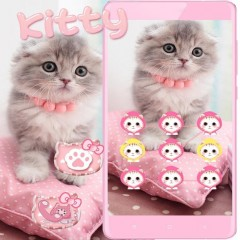 Pink Cute Kitty Cat Theme