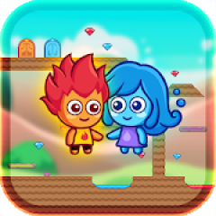 Fire and Water Maze: Crazy Boy and Lovely Girl