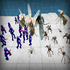 Battle Simulator: Spiders and Stickman