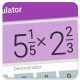 Fraction calculator with solution: easy and simple