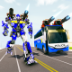 Bus Robot Car Transform War: Police Robot games