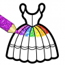 Glitter Dresses Coloring Book For Kids