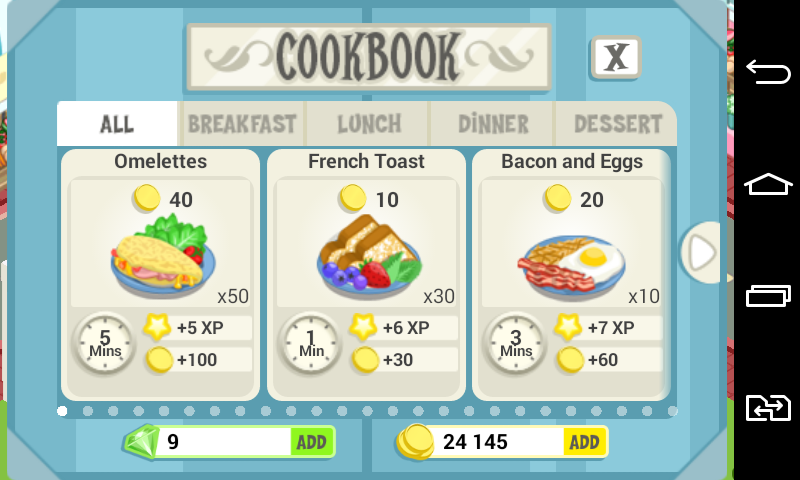 cooking fever gagner casino