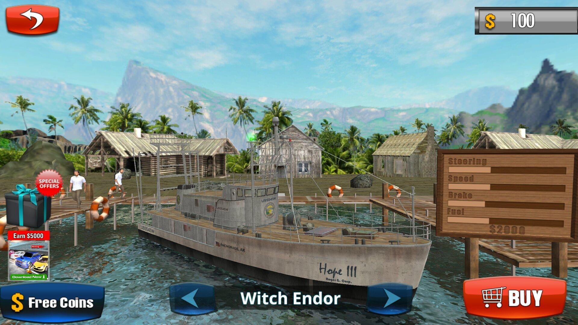 Fishing boat driving simulator ship games android games for Fishing boat games