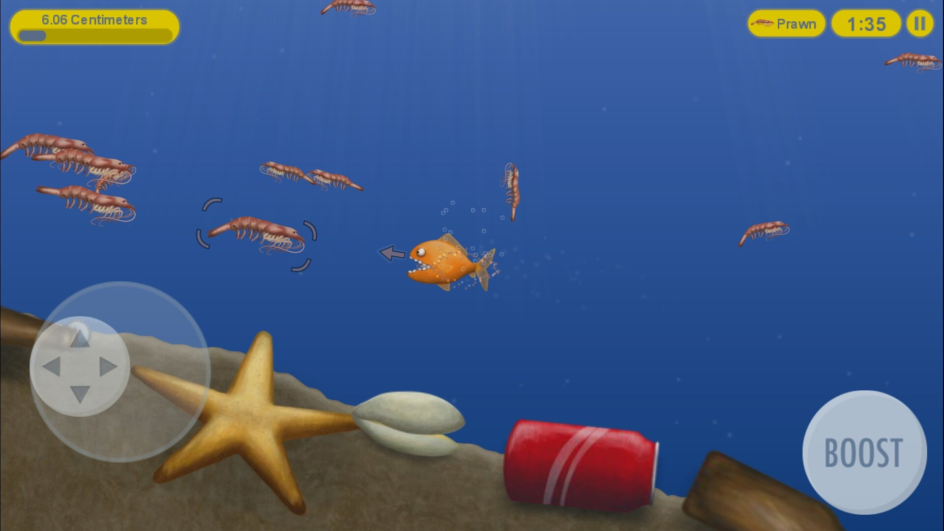 tasty blue fish game
