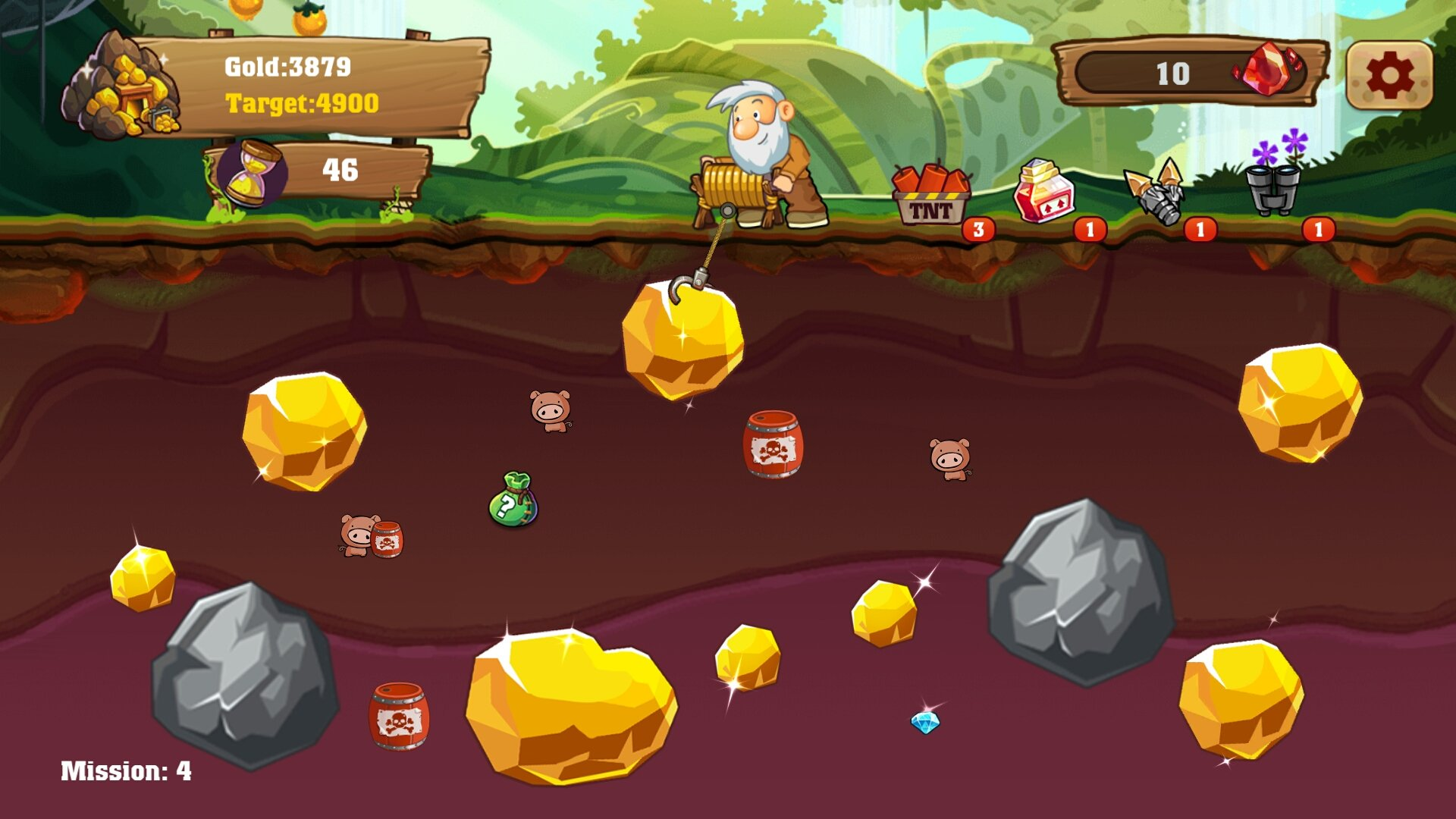 Play Gold Miner Vegas Online Games