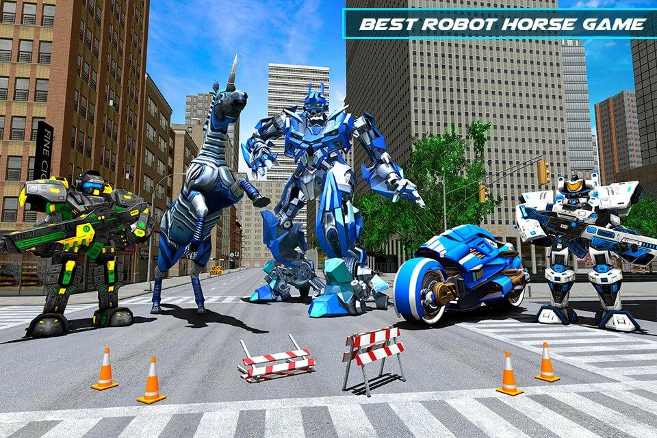 US Police Robot Horse Game: Transforming Robots - Android games