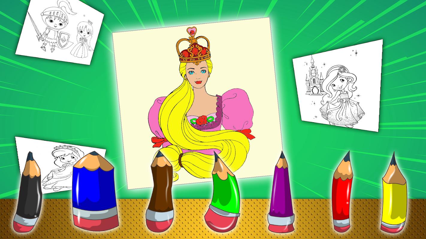 Принцесса: Раскраски для девочек - игры для Android ...